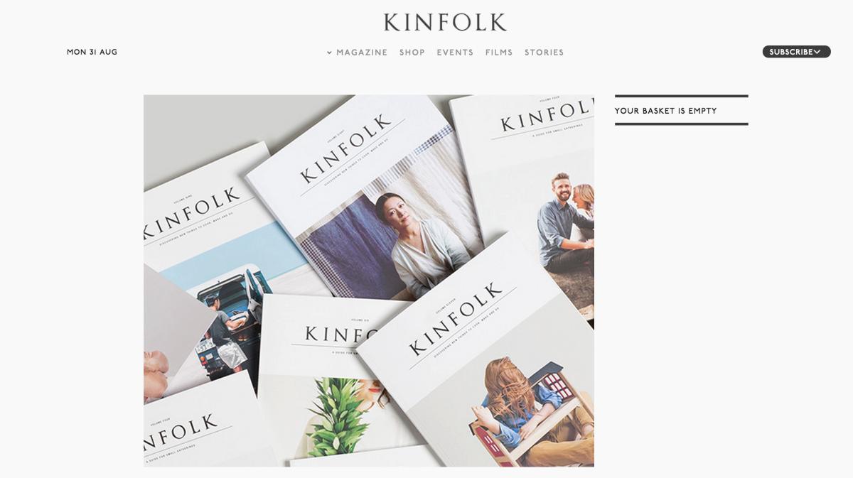 生命中的小事 – Kinfolk雜誌